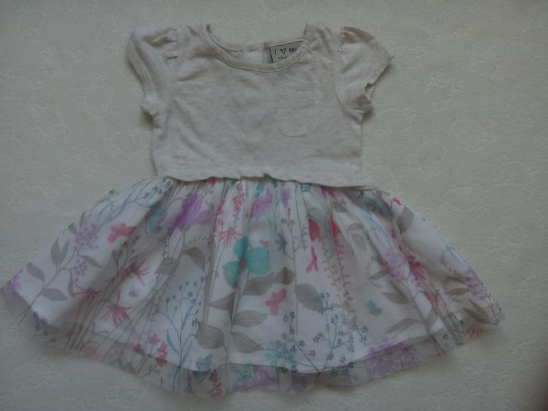 Платье next на 3-7м