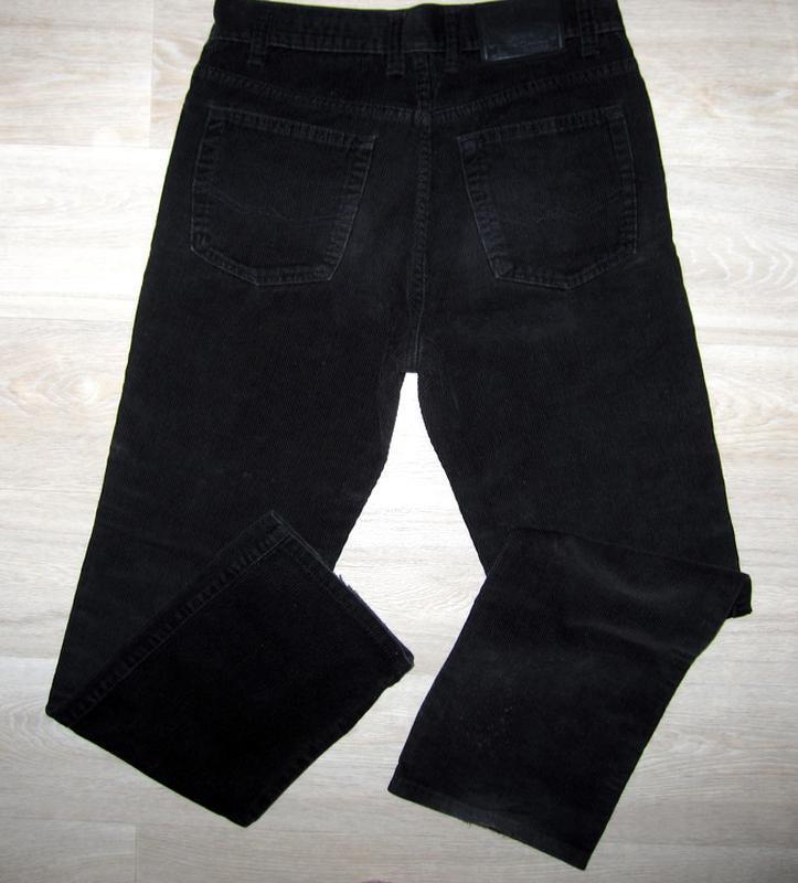 Вельветовые брюки мужские фирменные размер w:30 l:34 - Фото 2