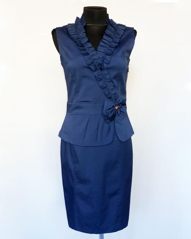 Новинка. стильное платье, синее. турция. новое, р. 42-56