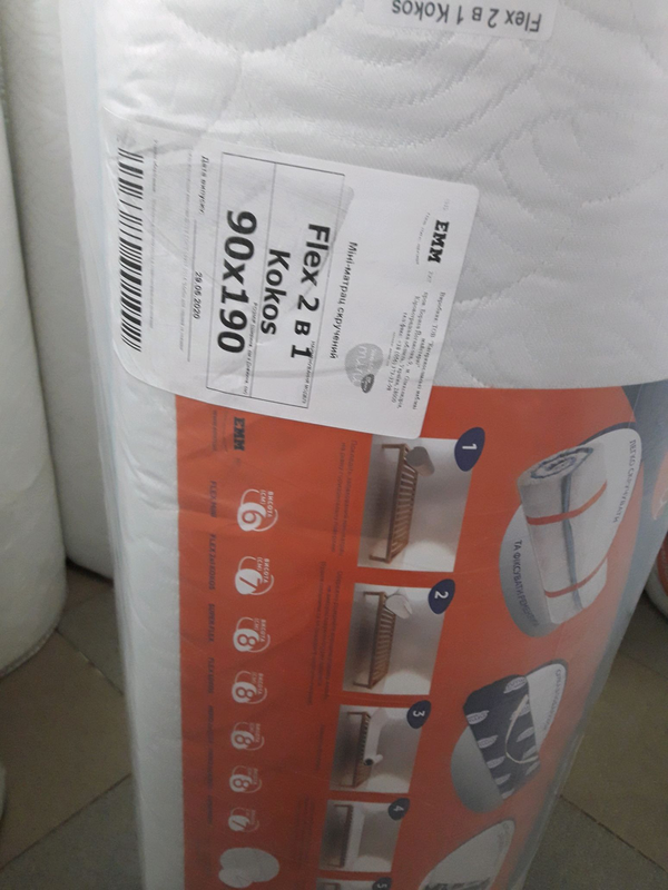 90х190 тонкий матрас на диван Sleep&Fly Flex 2в1 kokos - Фото 2