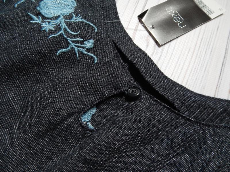 🌿шикарное льняное платье миди с вышивкой от next. размер 2xl (... - Фото 6