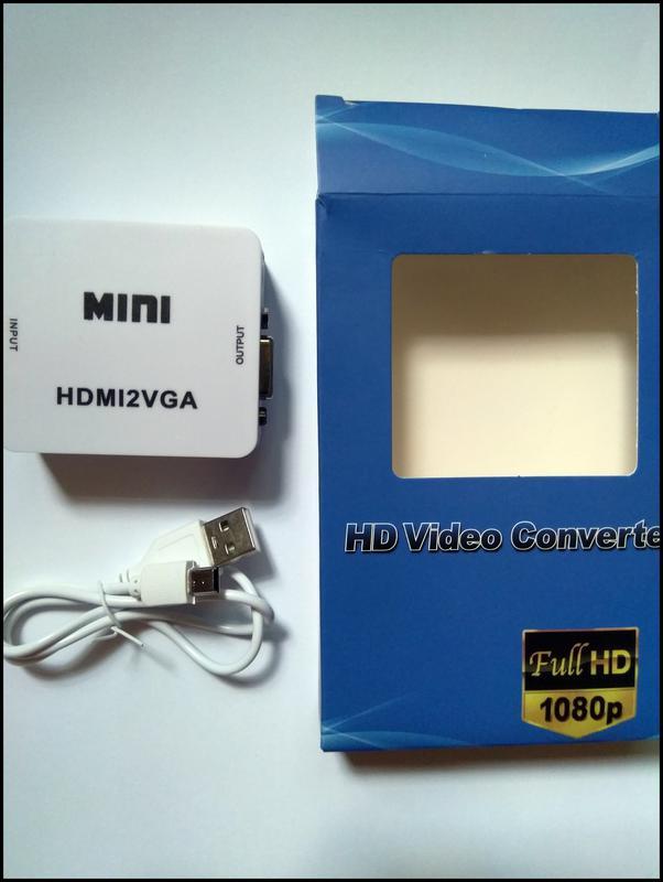 HDMI 2 VGA конвертер переходник монитор + звук +USB5v