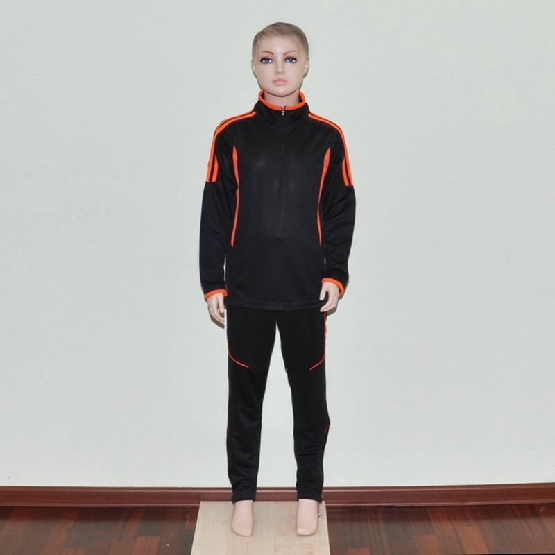 Футбольный тренировочный костюм black/orange для детей (1759)