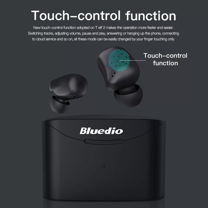 Беспроводные Bluetooth наушники Bluedio T Elf 2 с зарядным боксом - Фото 3