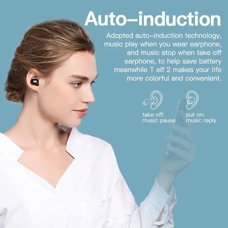 Беспроводные Bluetooth наушники Bluedio T Elf 2 с зарядным боксом - Фото 4