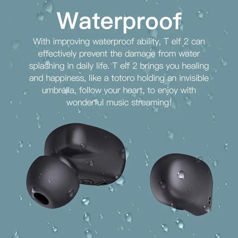 Беспроводные Bluetooth наушники Bluedio T Elf 2 с зарядным боксом - Фото 5