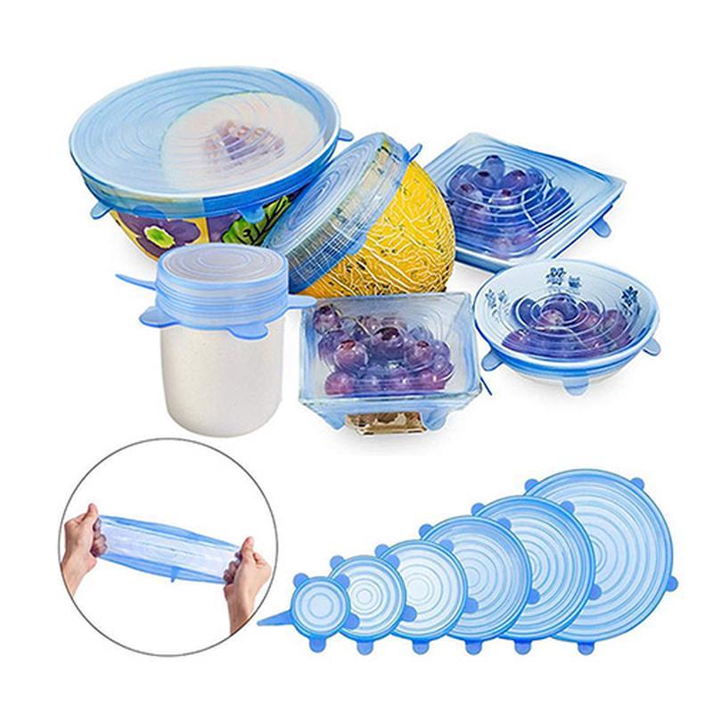Акция! Силиконовые Крышки Для Посуды Senilar(6 шт)! Качество!