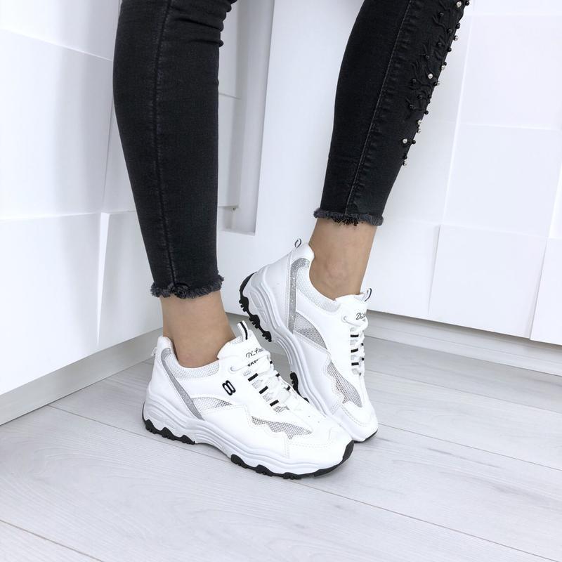 Топовые легкие летние кроссовки, экокожа, р. 36-40, кросiвки е...