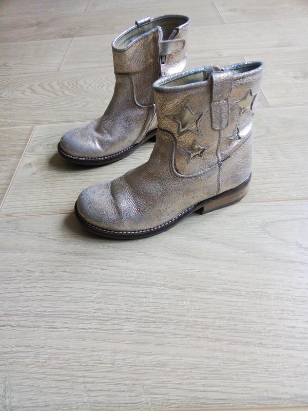 Демисезонные ботинки для девочки.Кожа