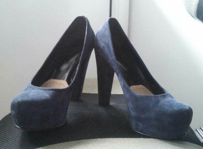 Туфли замш на каблуке и платформе,туфлі замш на каблуку і плат...