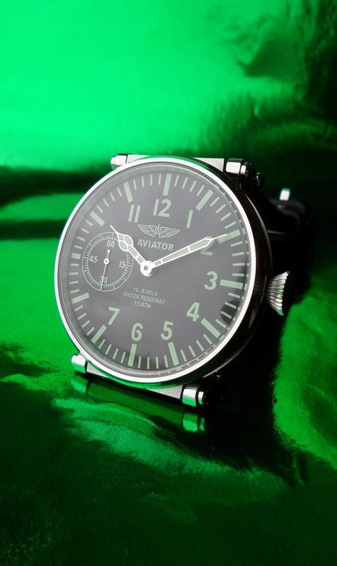 «AVIATOR _Молния» БОЛЬШИЕ часы мех. 50-х. СОВРЕМЕННЫЙ дизайн - Фото 7