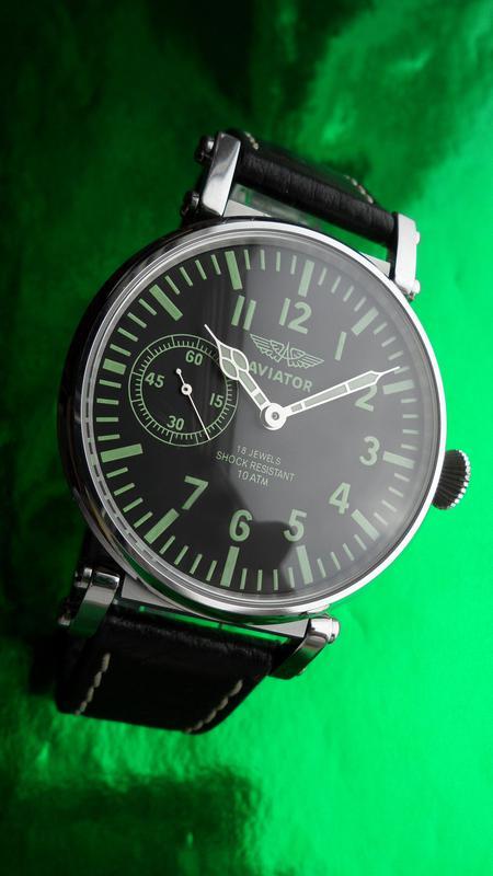 «AVIATOR _Молния» БОЛЬШИЕ часы мех. 50-х. СОВРЕМЕННЫЙ дизайн - Фото 4