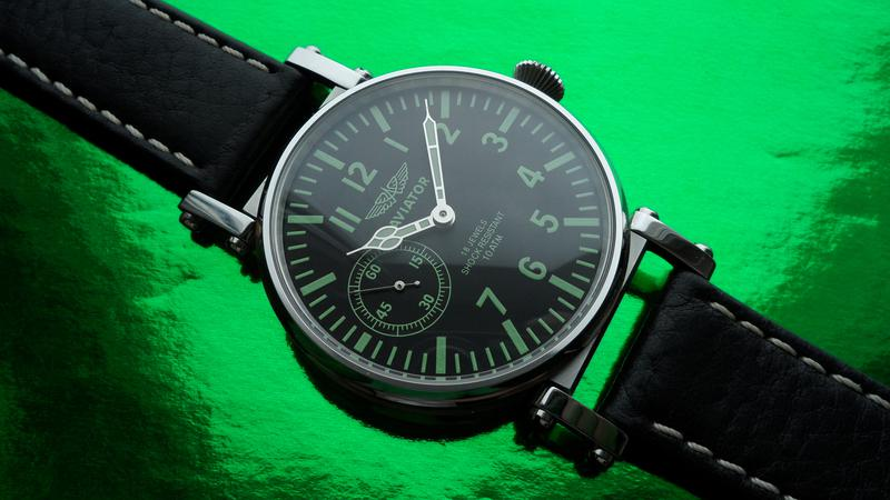 «AVIATOR _Молния» БОЛЬШИЕ часы мех. 50-х. СОВРЕМЕННЫЙ дизайн - Фото 5