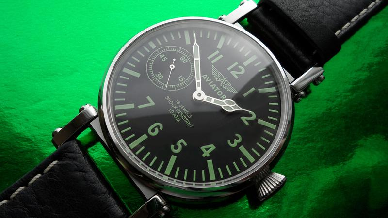 «AVIATOR _Молния» БОЛЬШИЕ часы мех. 50-х. СОВРЕМЕННЫЙ дизайн - Фото 9