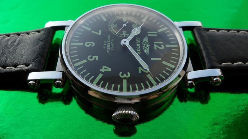 «AVIATOR _Молния» БОЛЬШИЕ часы мех. 50-х. СОВРЕМЕННЫЙ дизайн - Фото 12
