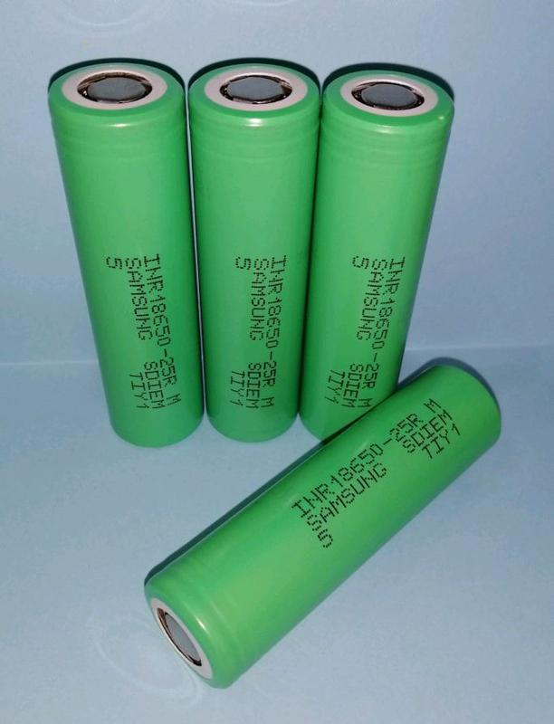 Высокотоковый аккумулятор Samsung INR18650-25R - Фото 2