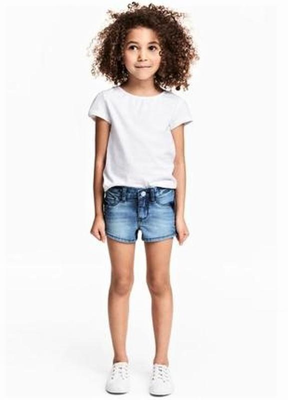 Джинсовые шорты на девочку 5-6 лет h&m