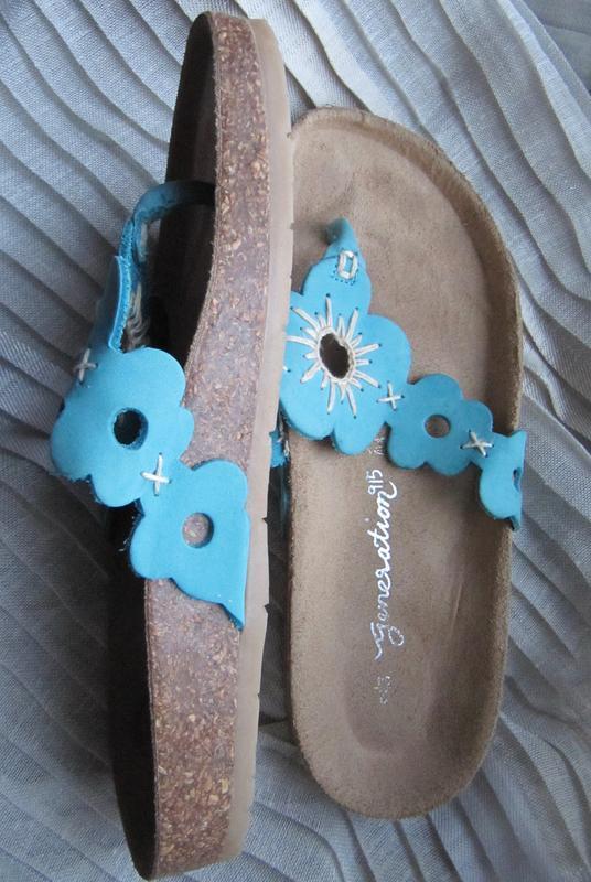 Босоножки шлепанцы ортопедические кожаные new look (34) 20 см