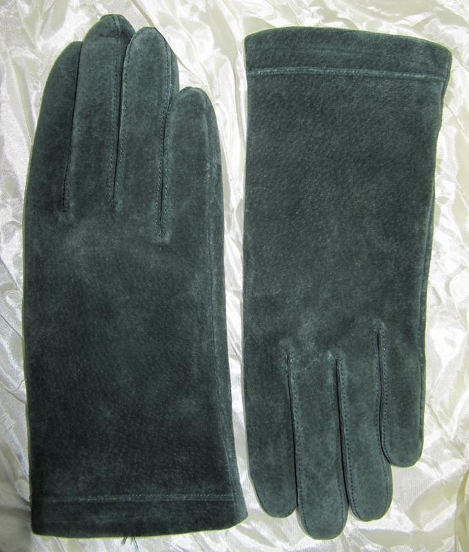 Перчатки утепленные женские натуральная замша house of fraser (l)