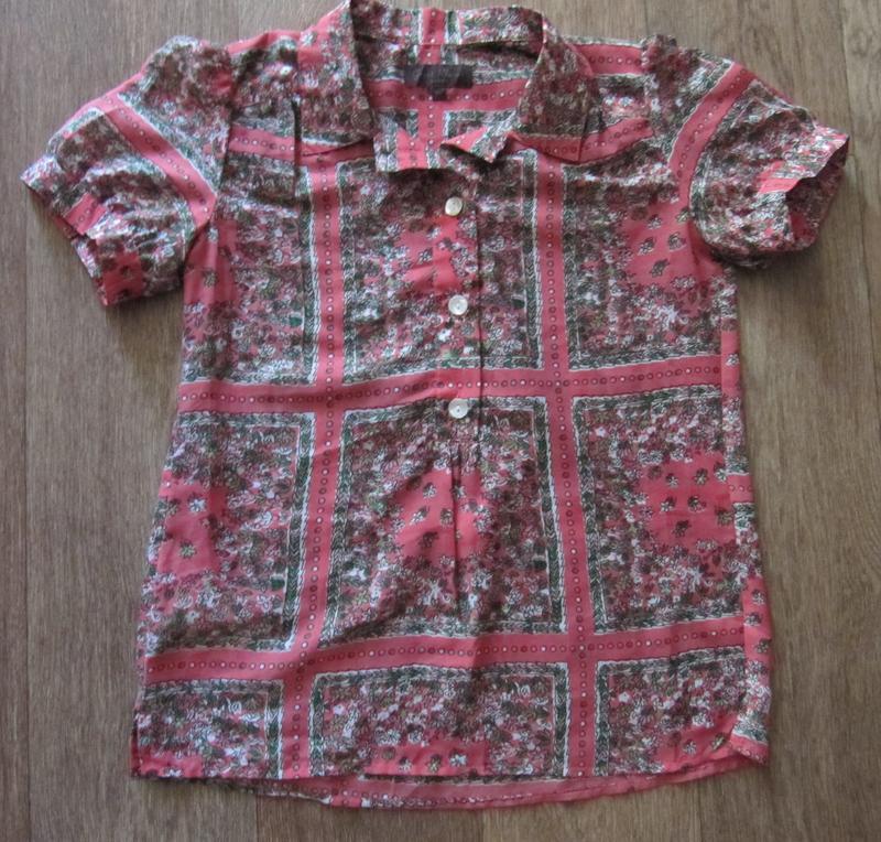 Блузка женская от дорогого бренда great plains london (xs)