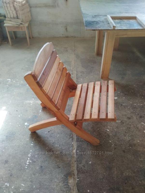 Стул (шезлонг) деревянный складной раскладной