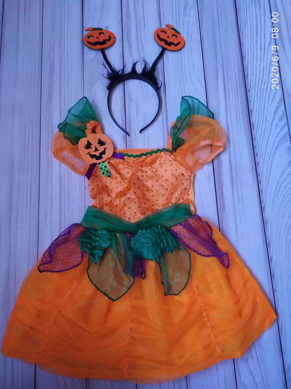 Платье тыквы, тыква, тыковка 1,5-2 года