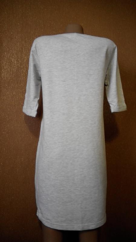 Платье свитшот трикотажное в спортивном стиле размер 8 new look - Фото 3