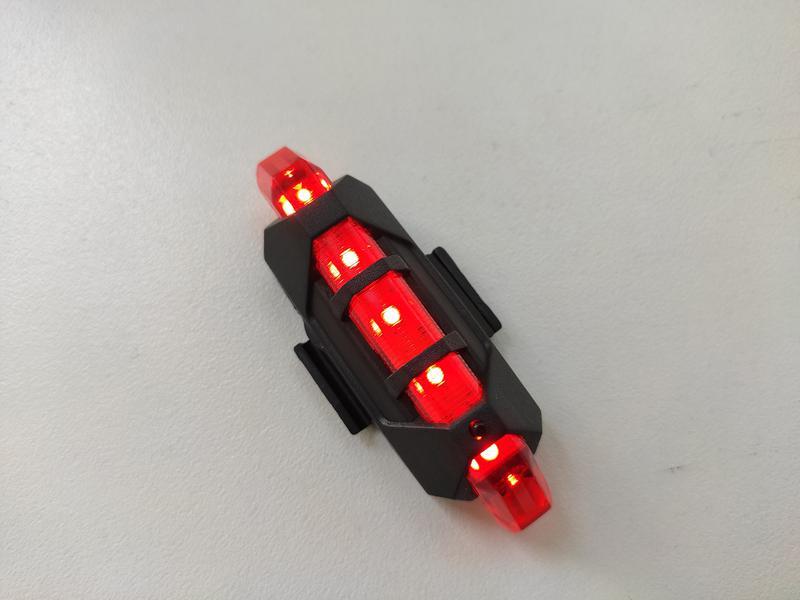 Фонарь для велосипеда, задний красный фонарь на аккумуляторе