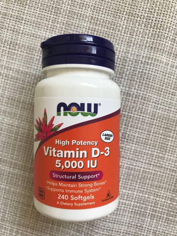 Now Foods , Д3 , Витамин Д3 5000 мл, 240 шт, Now
