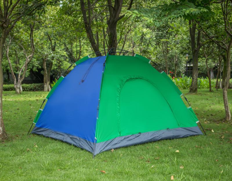 Палатка-автомат 2-х местная с автоматическим каркасом Leomax (2*1 - Фото 2