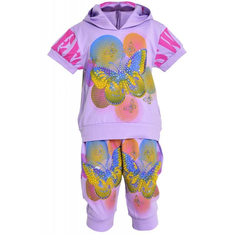 Модный летний костюм для девочек 2,3,4,5 лет