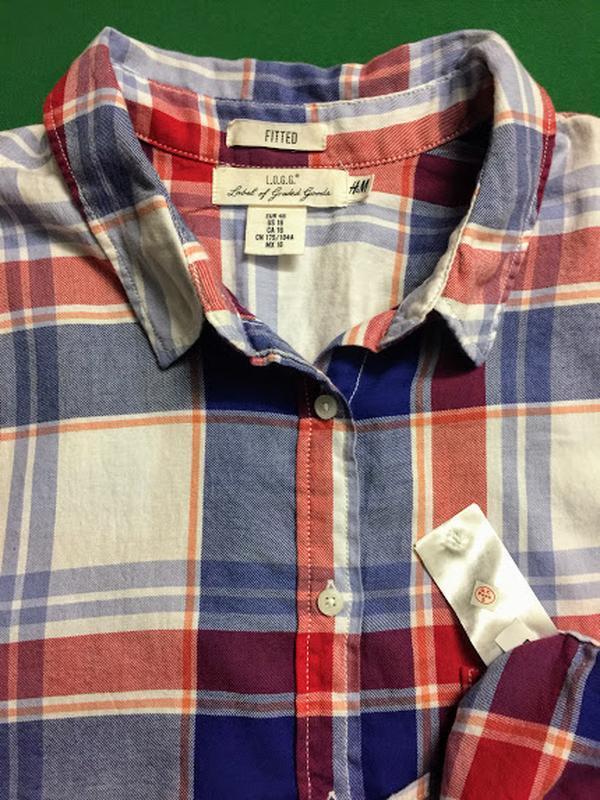 Демисезонная рубашка h&m - Фото 5