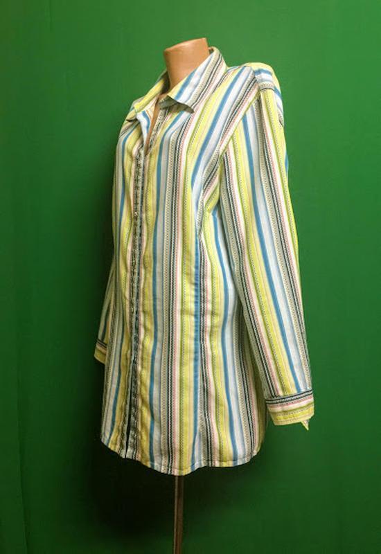 Длинная рубашка-туника ulla popken - Фото 2