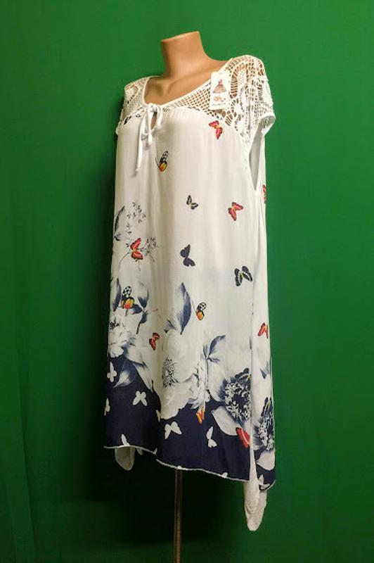 Длинная итальянская лёгкая туника fashion - Фото 2