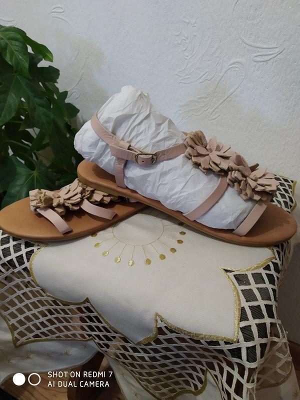 Босоніжки-тапи,шкіряні,бренд - Фото 4