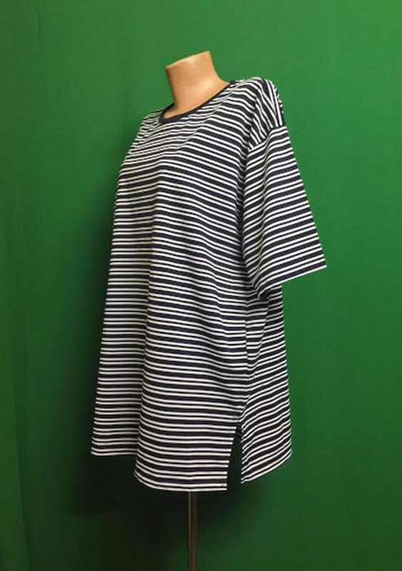 Полосатая туника-футболка - Фото 3