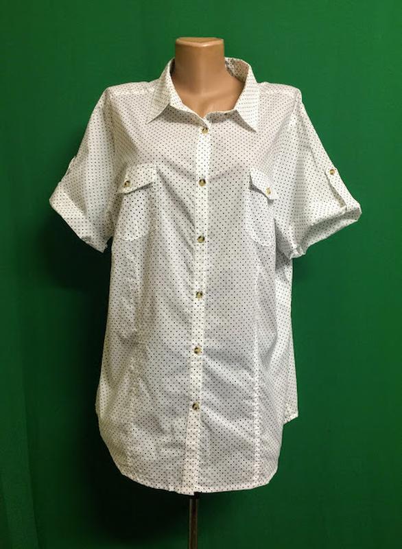 Длинная тонкая хлопковая рубашка ambria