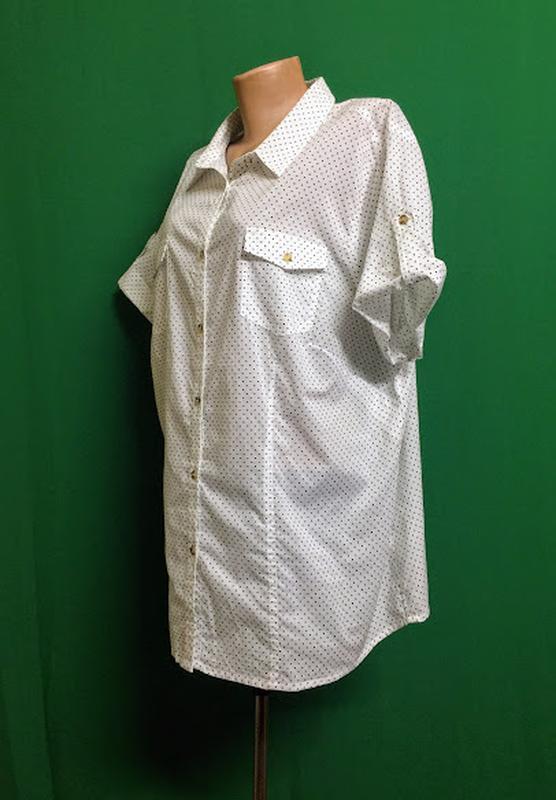 Длинная тонкая хлопковая рубашка ambria - Фото 3