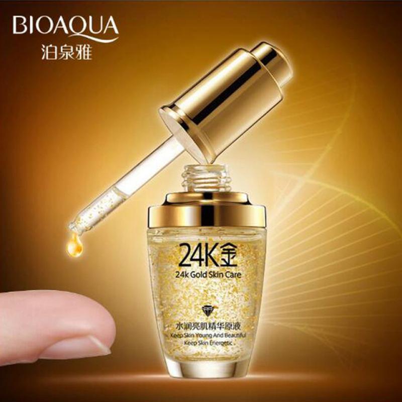 Сыворотка для лица  24к золота и гиалуроновой кислотой Bioaqua