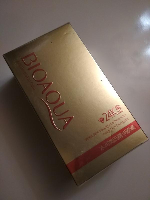 Сыворотка для лица  24к золота и гиалуроновой кислотой Bioaqua - Фото 3