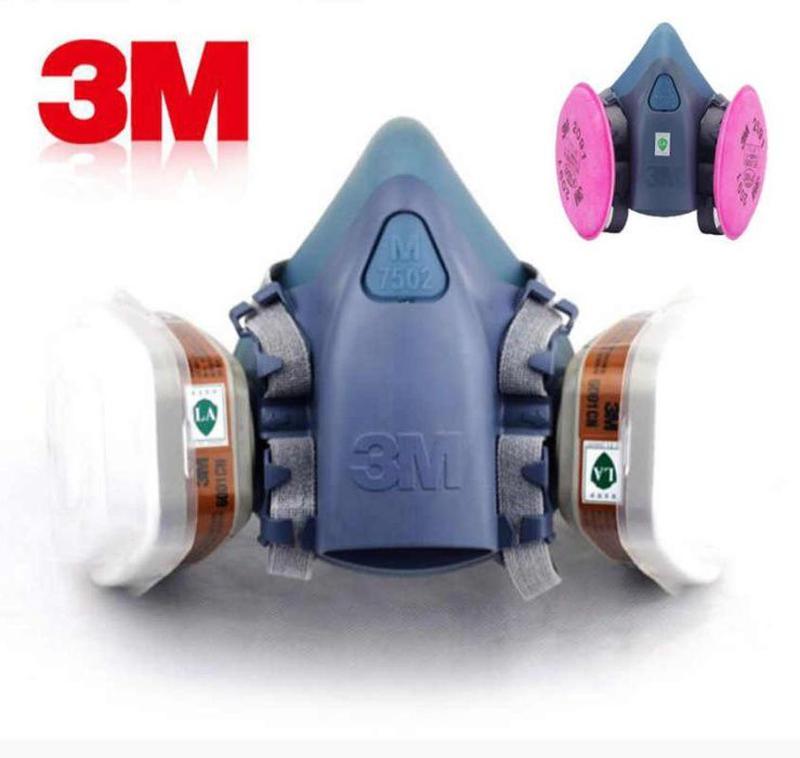 Респиратор маска защитная 3m 7502 , фильтра ,уголь ,пыль