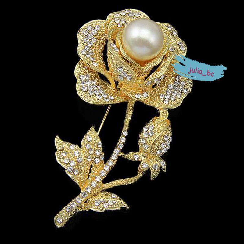 Роскошная брошь роза золото, смотрите больше бижутерии в моих ...