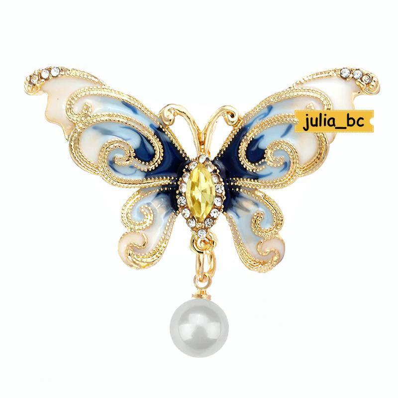 Брошь-подвеска бабочка жемчуг, смотрите больше бижутерии в мои...
