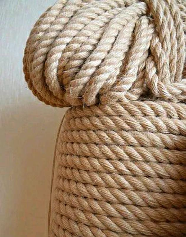 Веревка джутовая 14 мм 50м канат джутовый