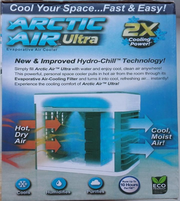 Портативный мини кондиционер arctic air ultra увлажнитель воздуха - Фото 4