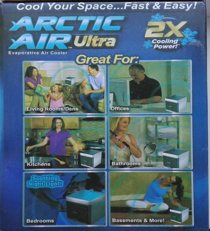 Портативный мини кондиционер arctic air ultra увлажнитель воздуха - Фото 14