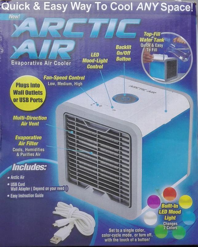 Переносной кондиционер arctic air cooler oхладитель воздуха - Фото 5