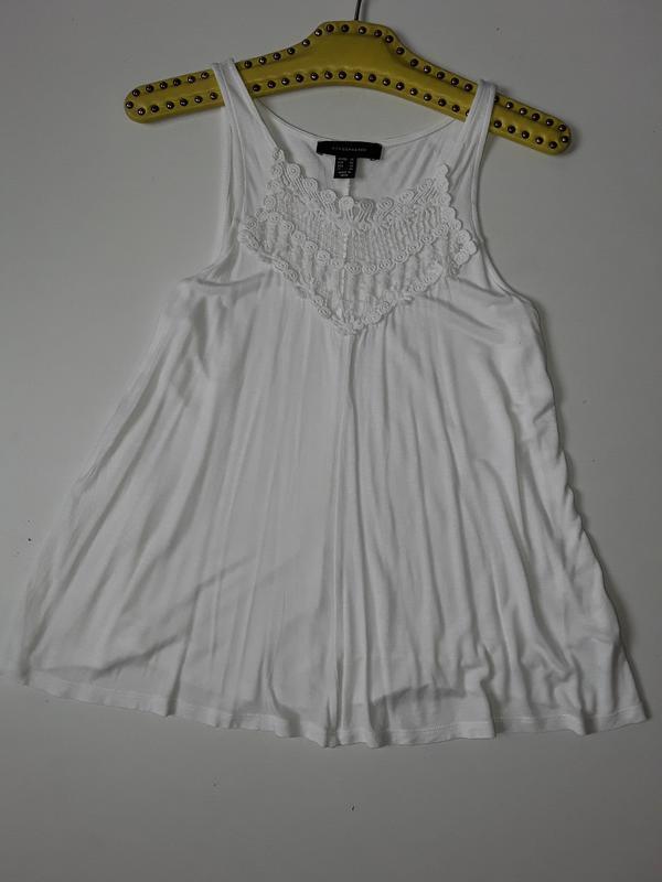 Трикотажная блузка  майка с кружевом