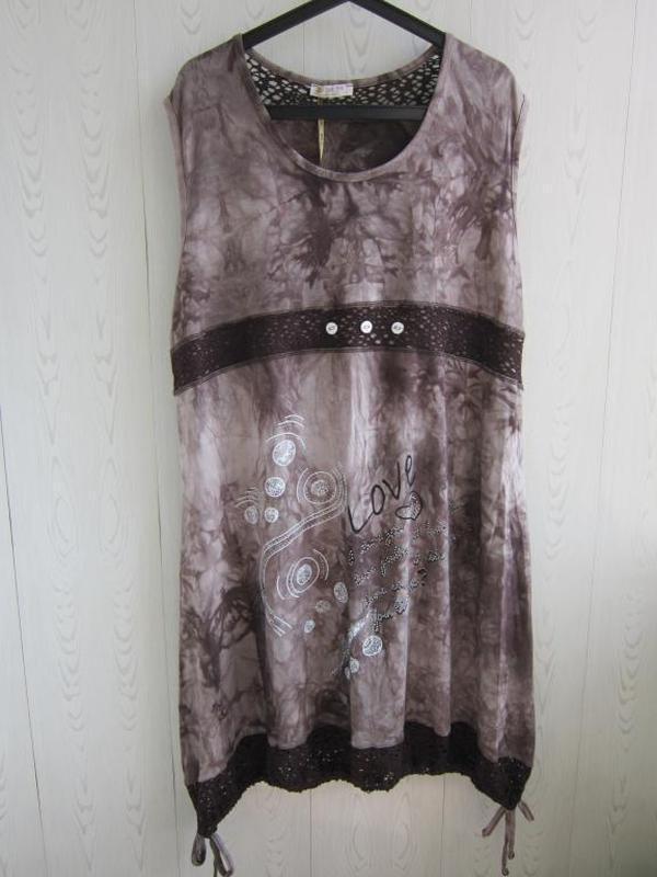Трикотажное платье туника  большого размера