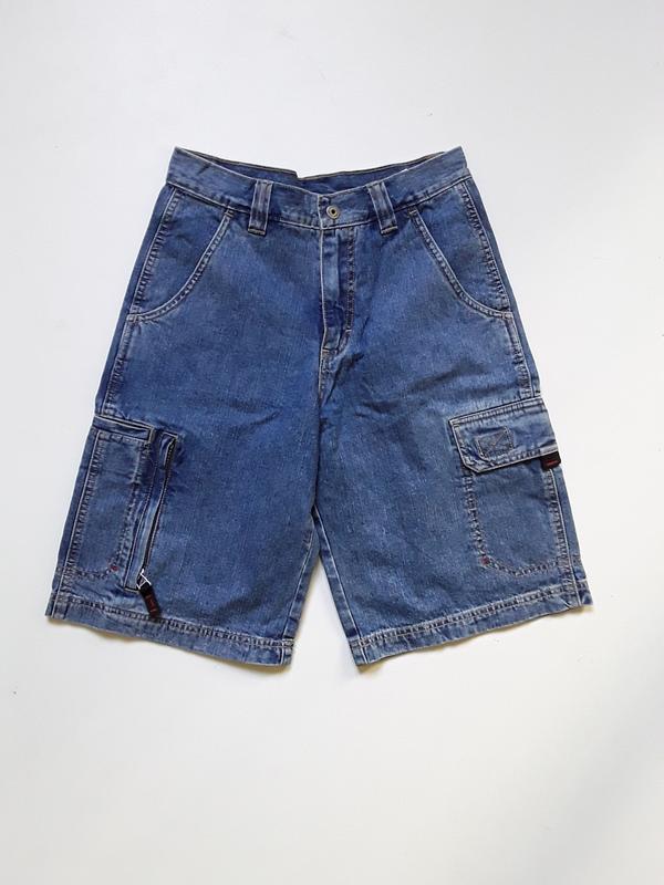 Джинсовые шорты карго  на подростка